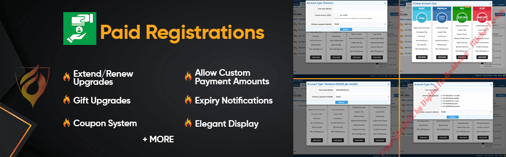Paid Registrations