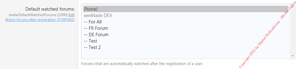 Watch Forums After Registration